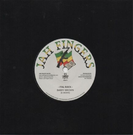 Barry Brown - Ital Rock / Dean Fraser - Special Dubplate Cut (Jah Fingers) UK 7""